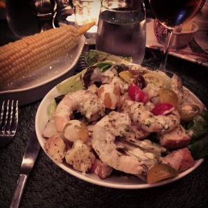 shrimpcaesar salad
